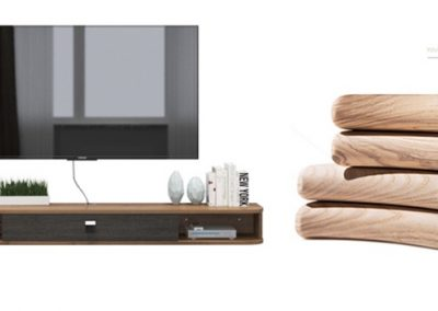 Calliope Hanging TV Console Floating TV Console Hanging TV Console Singapore
