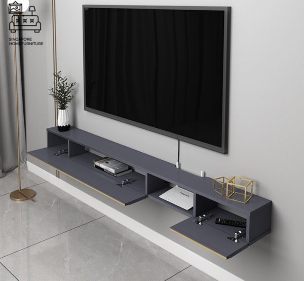 Merope Hanging TV Console Floating TV Console Hanging TV Console Singapore