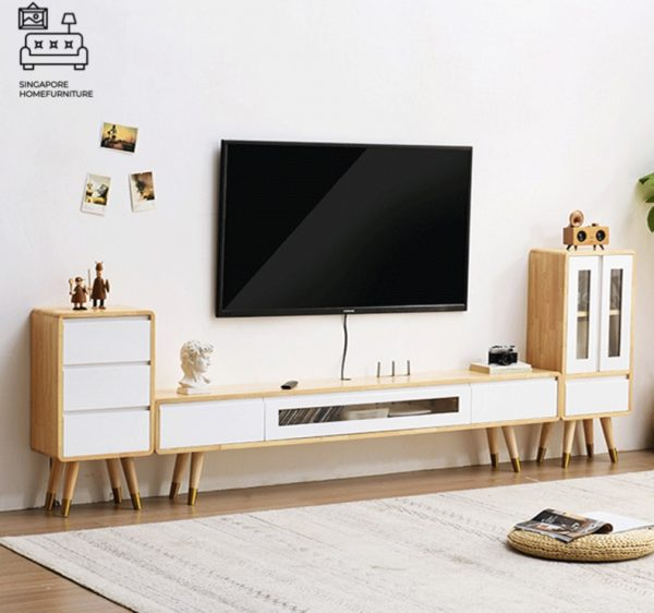 Thalia Hanging TV Console Floating TV Console Hanging TV Console Singapore