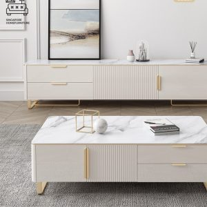 Lyssa Marble TV Console SIngapore SingaporeHomeFurniture