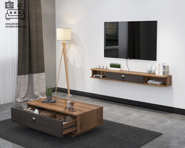 Rhodos Floating TV Console Singapore Wall Mounted TV Console SIngapore SingaporeHomeFurniture